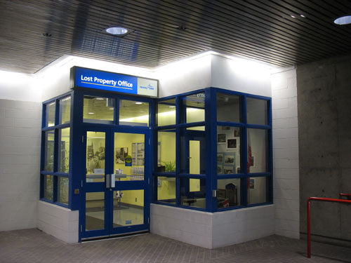 The Lost Property Office, located in a corner of Stadium Station.