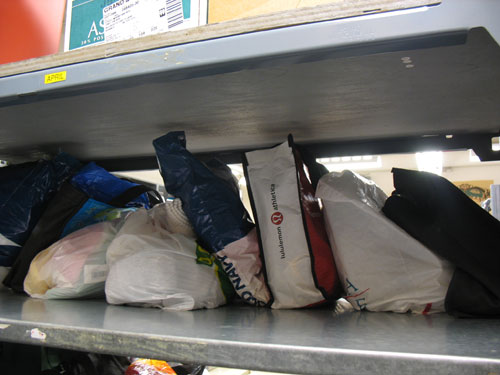 If you've left your shopping bag on the bus, check Lost Property. They hold on to all bags for 14 days.