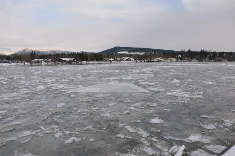 A look at the ice in the Fraser River.