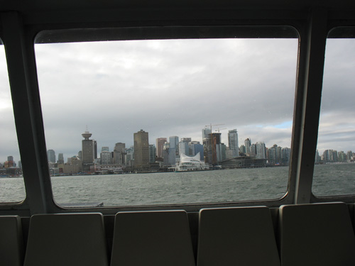 The view from the SeaBus.