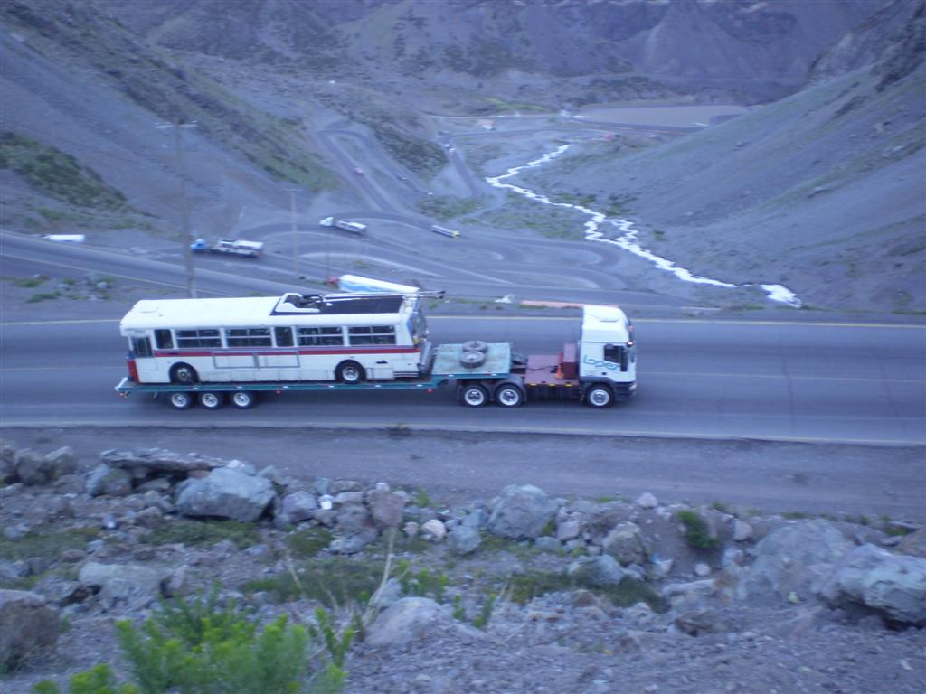 Another of our retired trolleys crossing the Andes. Photo courtesy of CTL Westrans Shipbrokers.