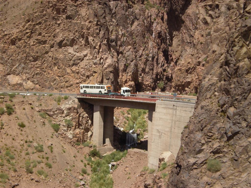 One of our retired Flyer trolleys, crossing the Andes! Photo courtesy of CTL Westrans Shipbrokers.