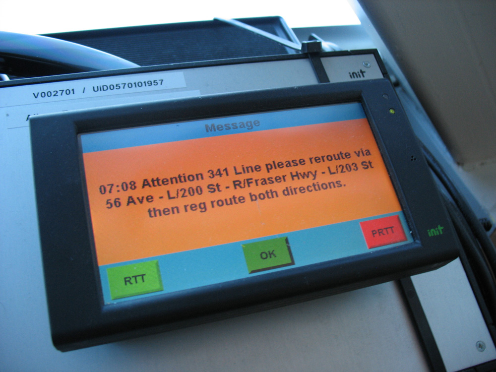 Reroute messages can be delivered solely to drivers of affected routes via TMAC.