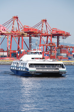 SeaBus, going about its business on a regular day.