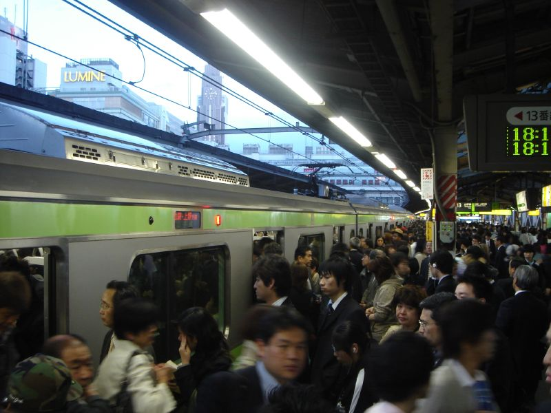 The Yamanote Line in Tokyo. Photo by <a href=http://www.flickr.com/photos/eerkmans/140234846/>eerkmans via Flickr</a>.