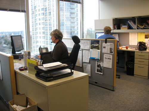 Members of our Customer Relations department in action.