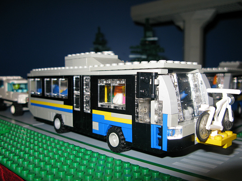 A LEGO model of a Nova bus, built by Tim Tosino. (Photo by <a href=http://www.flickr.com/photos/tim_tosino/>Tim</a> as well!)