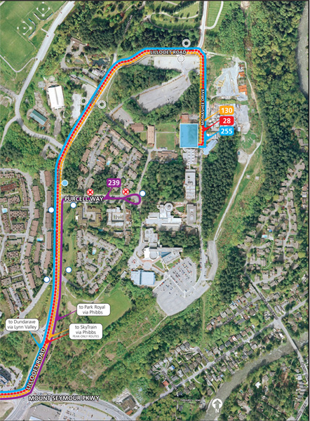 A map of the new Capilano University exchange. Click for a larger (and readable) version!