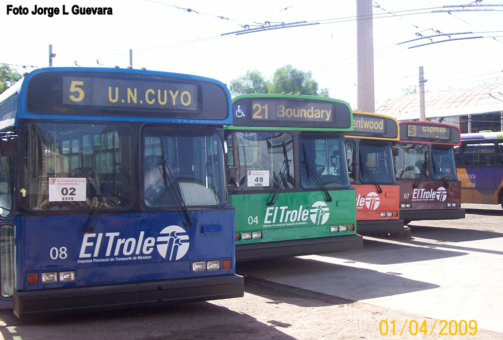 Our retired trolleys have been painted in new colours to serve the transit system of Mendoza, Argentina!