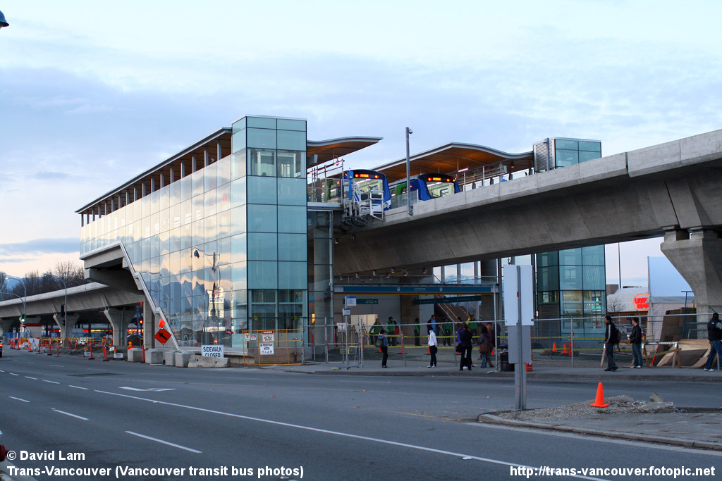 Lansdowne Station in Richmond, during the open house on April 9. Photo by <a href=http://www.trans-vancouver.fotopic.net/c1679729_1.html>David Lam</a>.