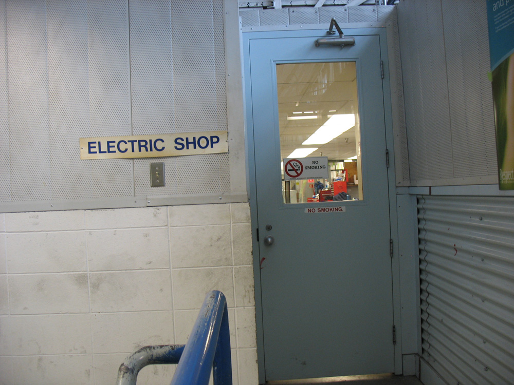 The electric shop, where they fix vehicle elements with electronic components.