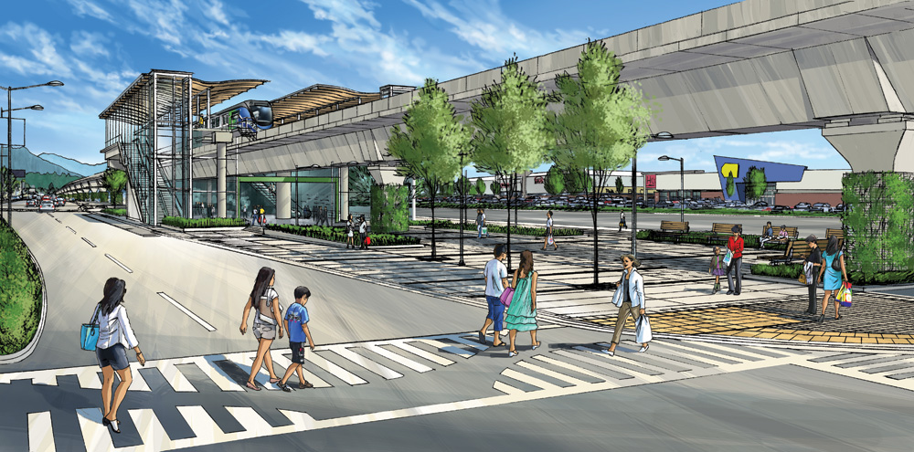 An artist's rendering of the finished Lansdowne Station in Richmond.