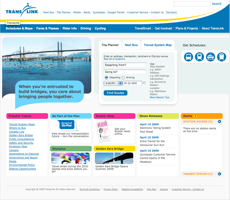 Check out the new <a href=http://www.translink.ca>TransLink website</a>!