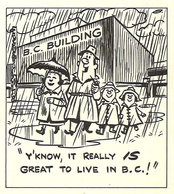 An unpublished Banks cartoon. (Bob would typically draw 2 or 3 for each issue, and not every cartoon made it in.)