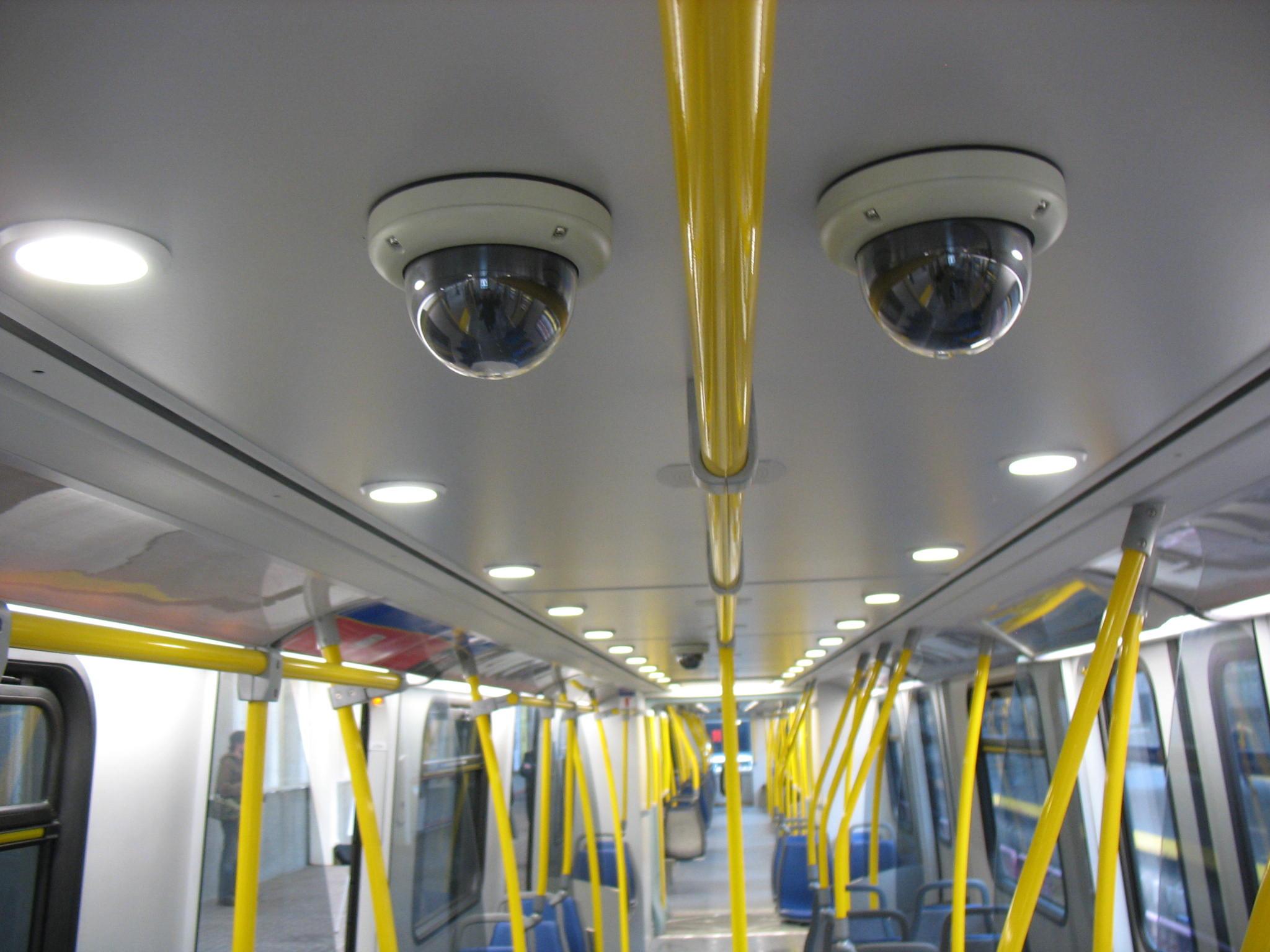 Four CCTV cameras are in each SkyTrain car.