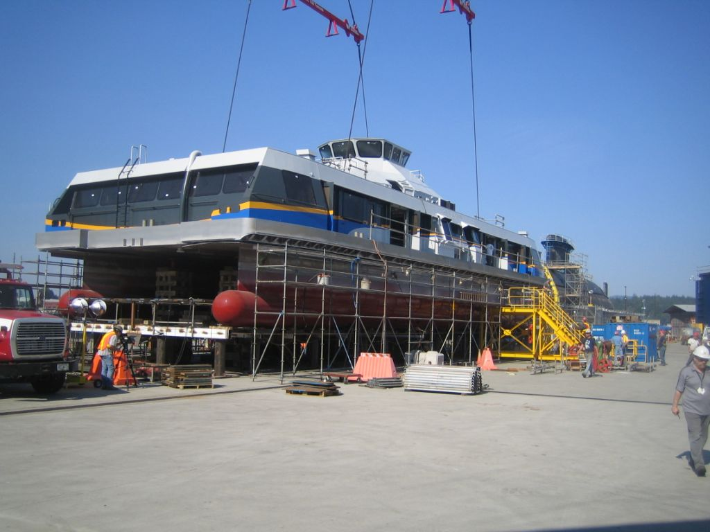 The Burrard Pacific Breeze, currently under construction at the Victoria Shipyards.