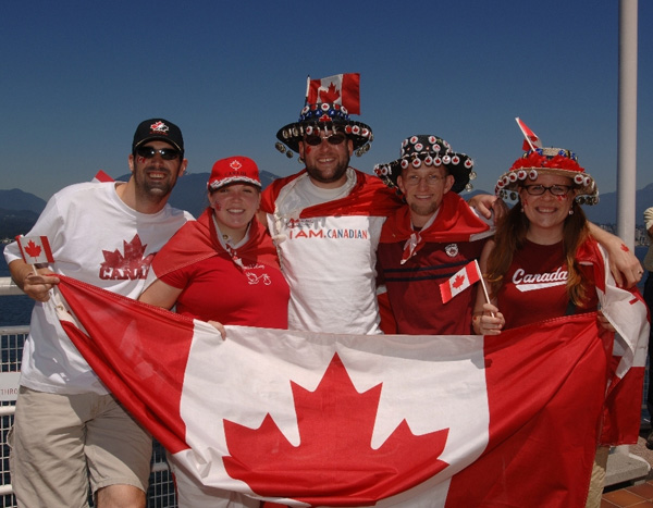 Canada Day revellers at Canada Place! (Thanks to Canada Place for the photo!)