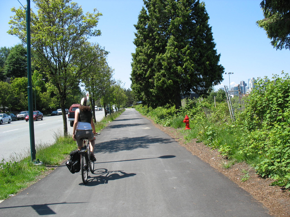 The Central Valley Greenway along Great Northern Way in Vancouver.