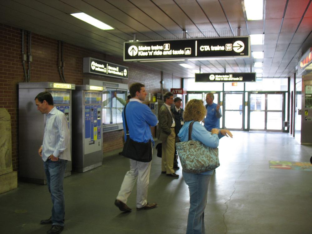 Davis Station, in Evanston, Illinois.