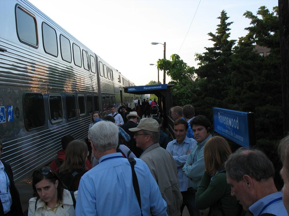 The platform at Ravenswood Station.