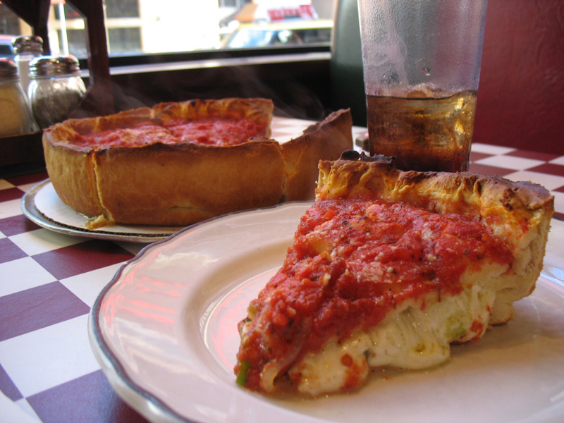 DEEP DISH PIZZA. Thank you, Chicago.