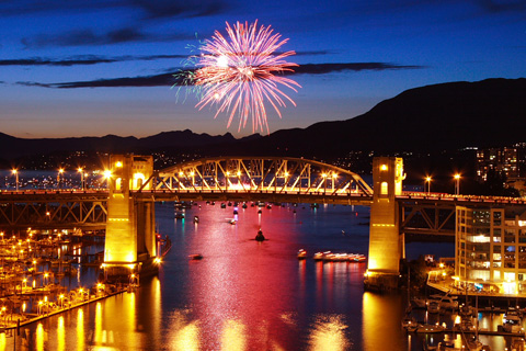 Fireworks from the HSBC Celebration of Light!