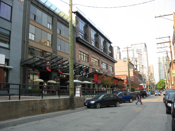 Chocoatl and the Yaletown Brewing Company, right behind Yaletown-Roundhouse Station. Head further up the street for more restaurants!