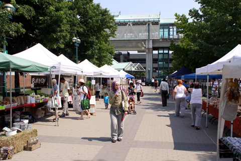 The Surrey Farmers Market, at Surrey Central Station!