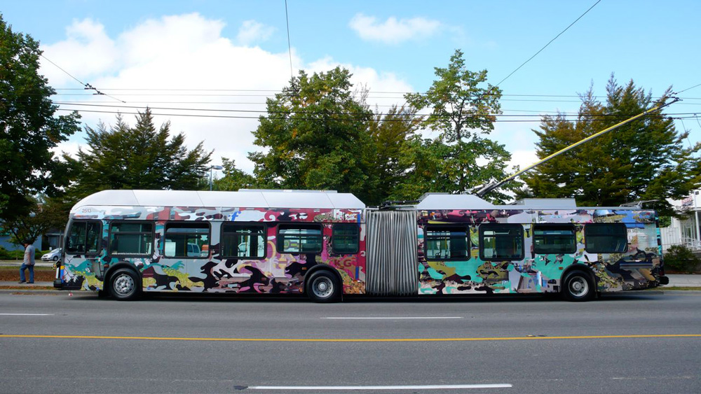 The other side of Germaine Koh's art-wrapped bus!