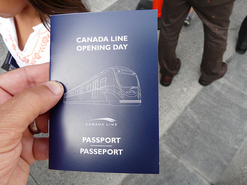 The Canada Line souvenir passport. Photo by <a href=http://www.flickr.com/photos/brentgranby/3832512272/>brent_granby</a>.