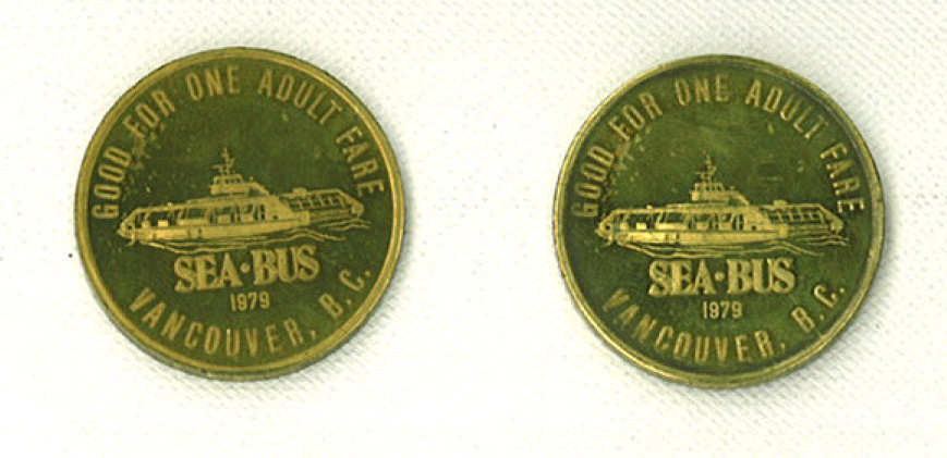 Back side of the SeaBus token