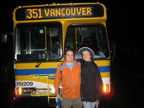 Mike and Annie in front of the last 351 -- the very place they met each other.