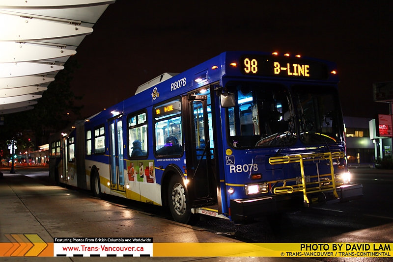 The last 98 B-Line makes its final stop at Richmond Centre. Photo by David Lam.