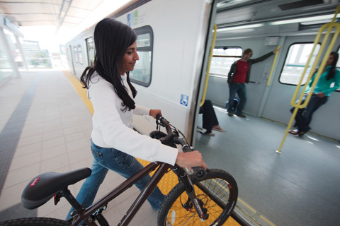 Store your bike in a locker at a Canada Line station, and you won't need to take it on the train.