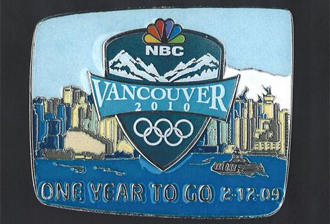 The NBC 2010 Olympic pin.