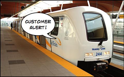 customer alert skytrain