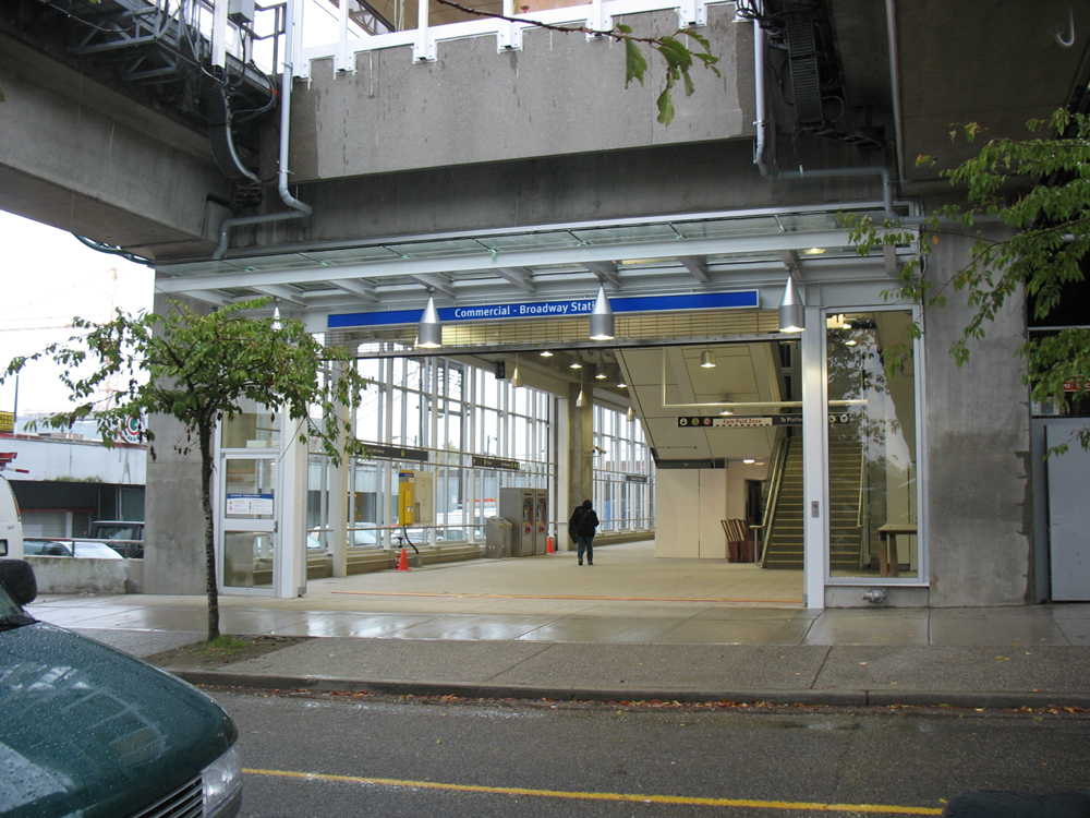 The new 10th Avenue entrance at Commercial-Broadway Station!