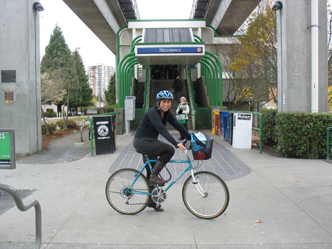 Yours truly, arriving at Metrotown for work.