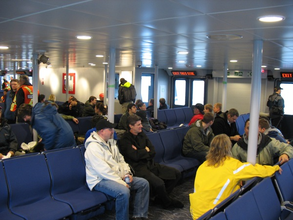 Another view of the new SeaBus interior.