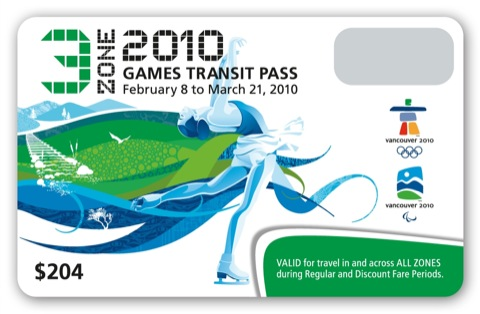 The three-zone Olympic FareCard.