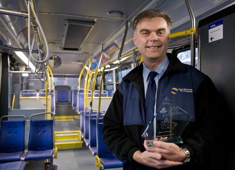 Congrats to Radenko Knezevic, who won a 2009 Employee Excellence Award from the Canadian Urban Transit Association!