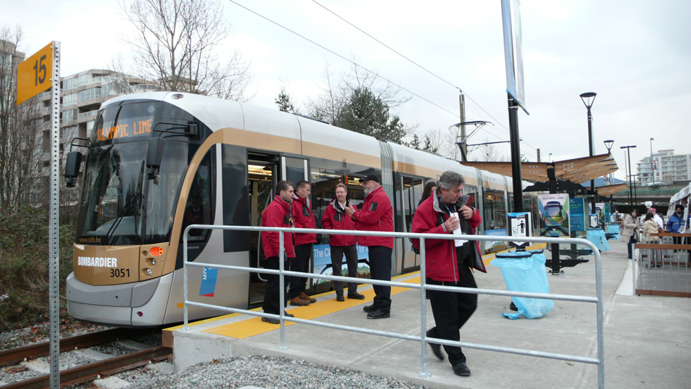 The front end of the streetcar before the event.