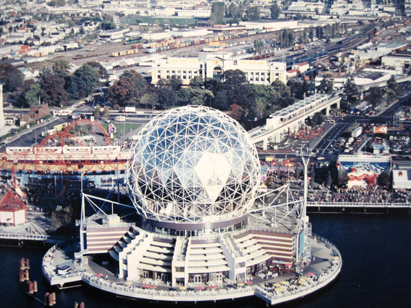 What a difference a few decades can make. Main Street-Science World SkyTrain Stn, 1986.