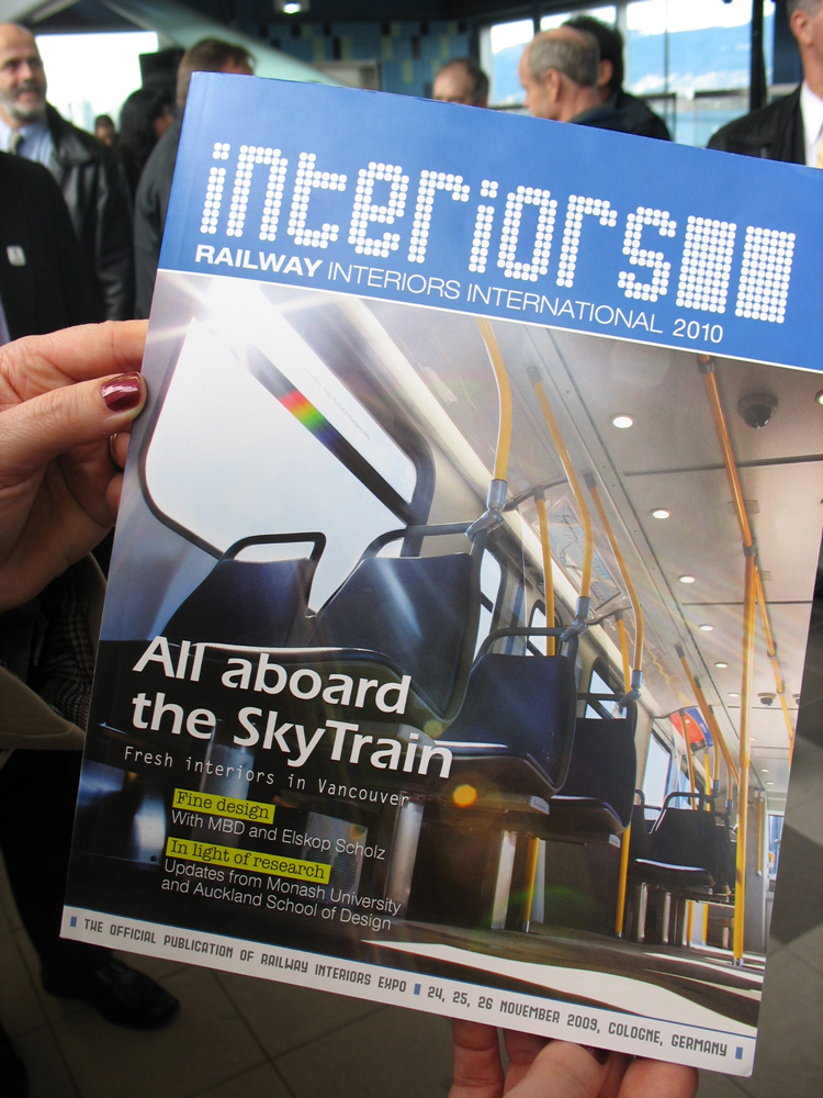 Our new SkyTrain interiors were on the cover of Railway Interiors magazine!