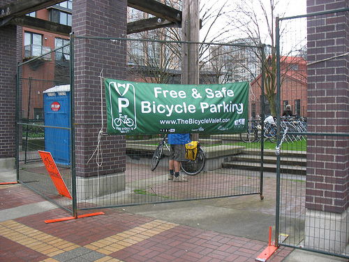 The bike valet service near LiveCity Yaletown in downtown Vancouver.