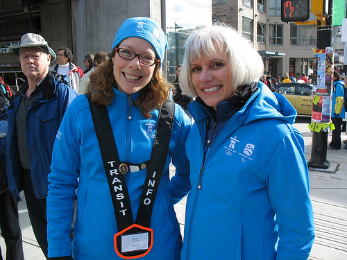Transit host Rachel with our vice-president of finance Cathy McLay.