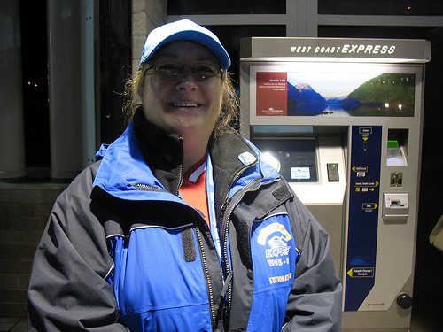 Deborah, one of the West Coast Express station attendants.