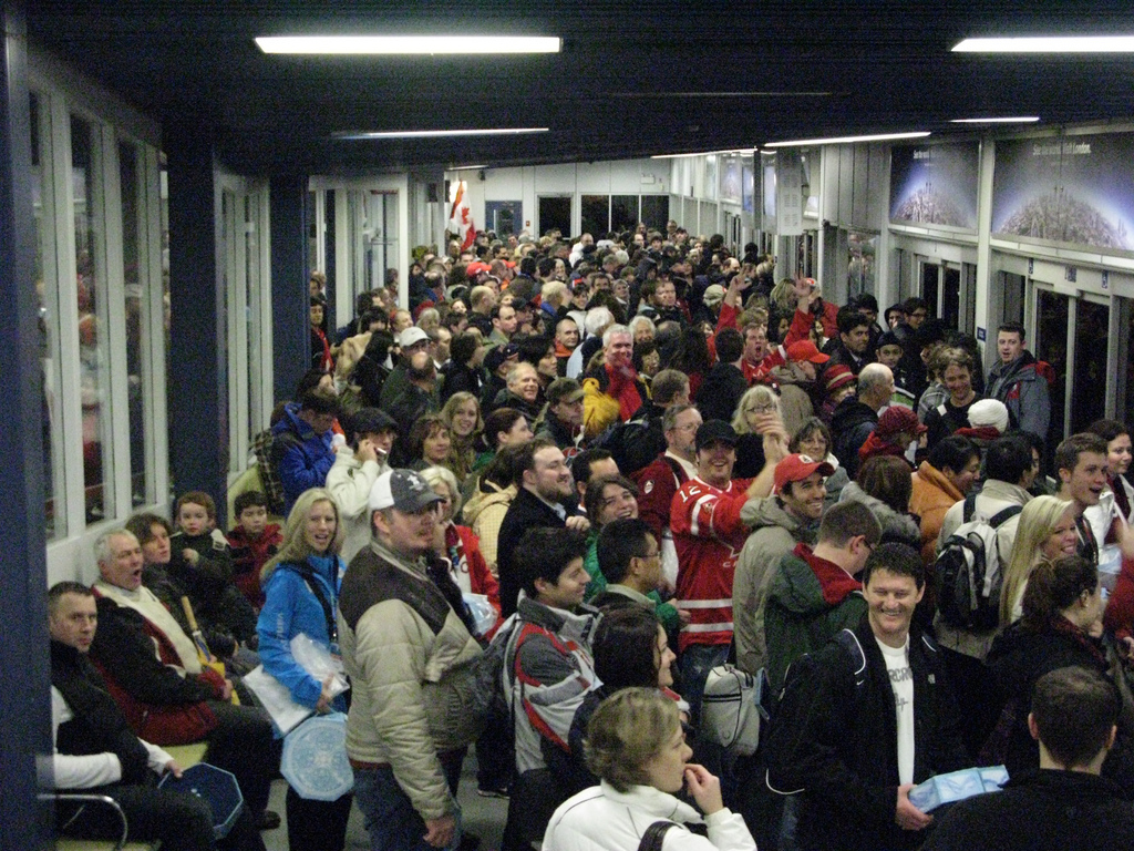Another shot of the SeaBus crowd.