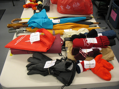 Lost items collected by Vancouver Transit Centre.