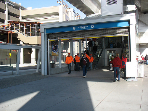"""Crowds"" at Bridgeport Station."